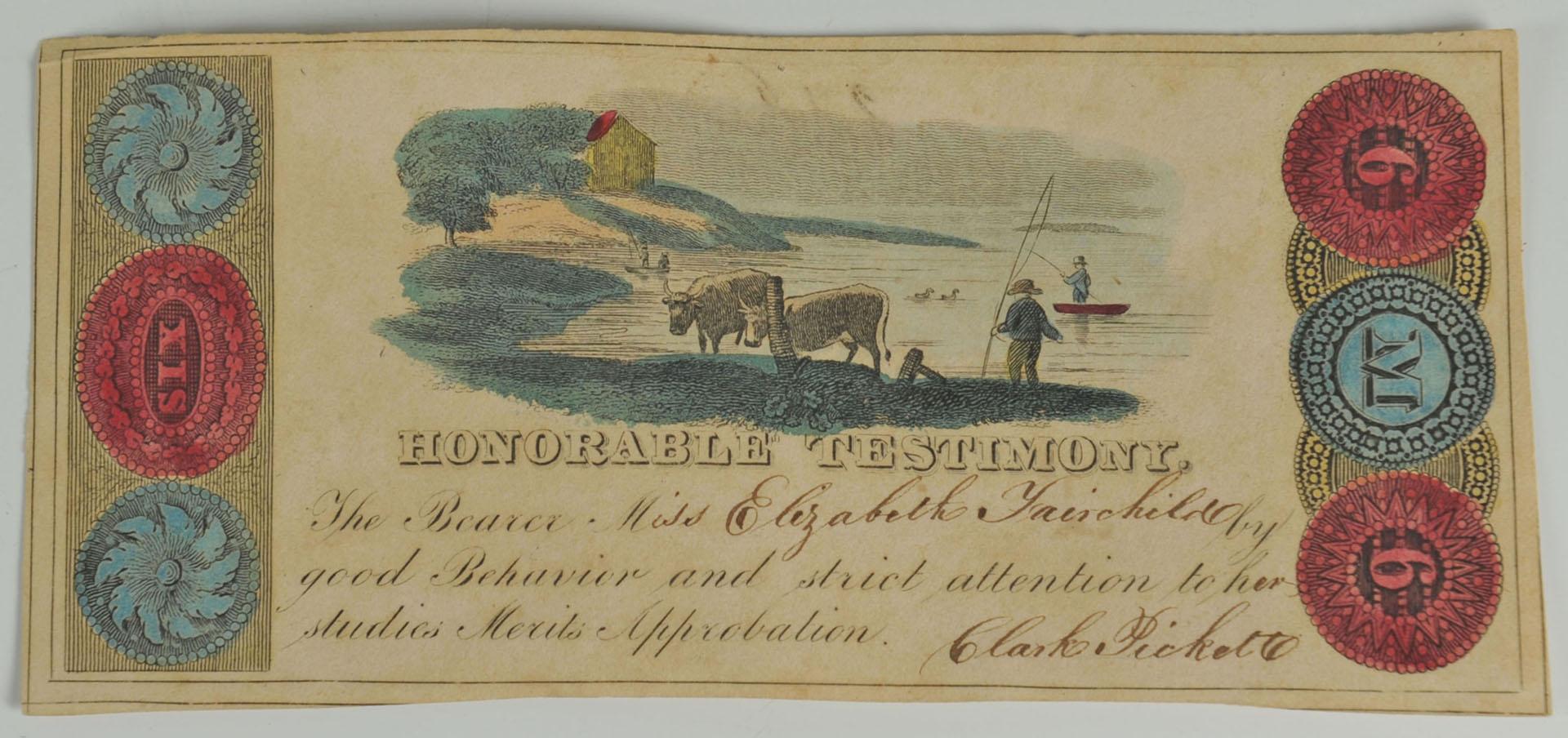 1827 Phinney's Stereotype Bible & Merit Cert