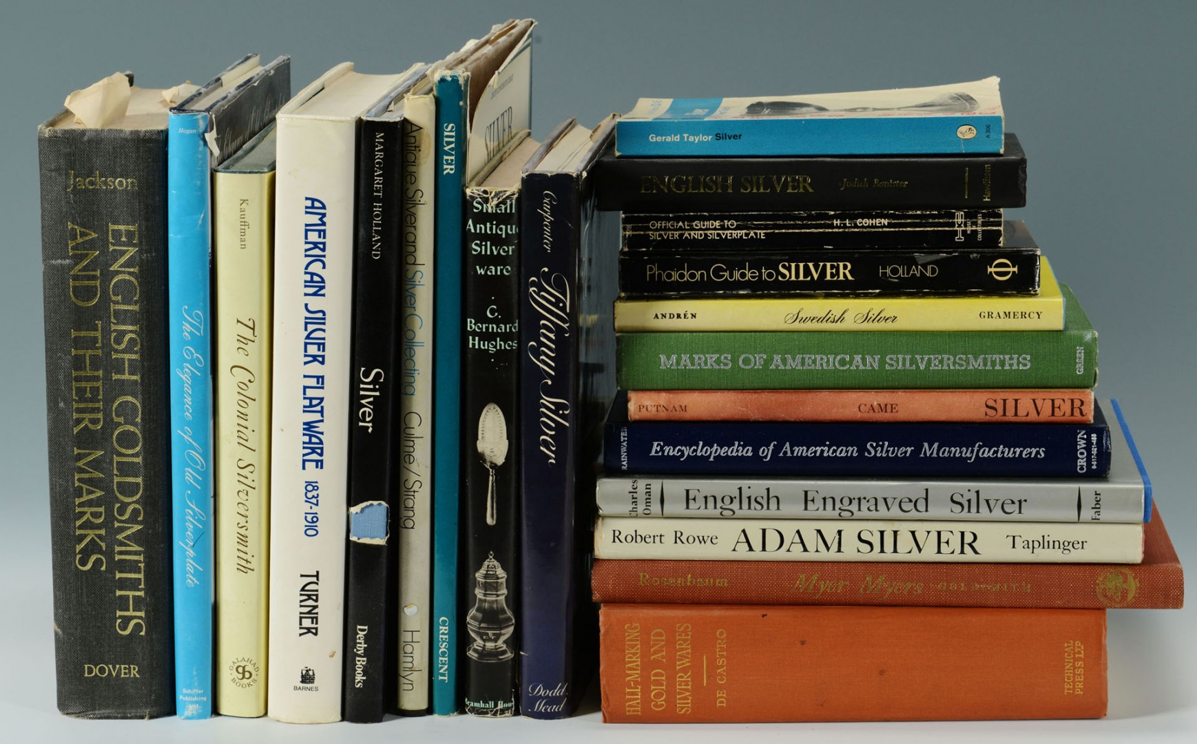 Grouping of 21 Books on Antique Silver & Gold