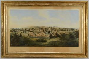Lot 698: Ed Beyer Lithographic View of Staunton, VA