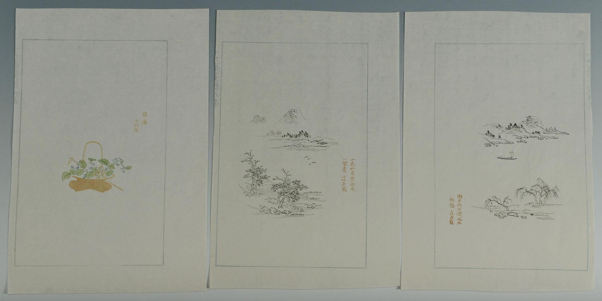 22 Woodblock Prints, Ten Bamboo Studio