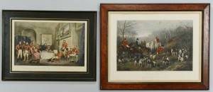 Lot 701: Pair of English Hunting Prints, 19th c.