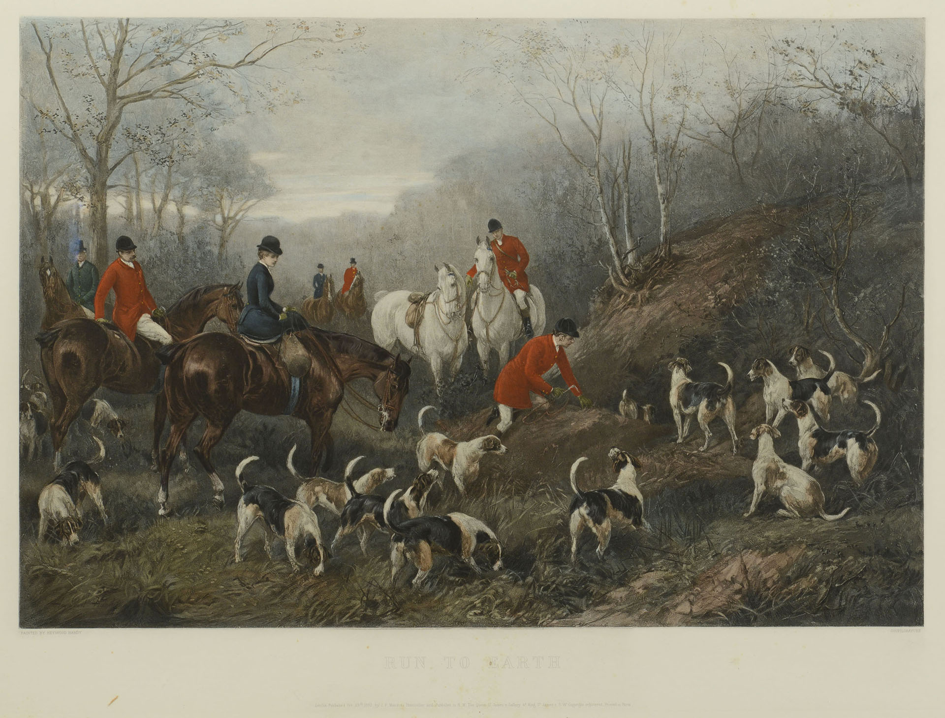 Lot 701 Pair Of English Hunting Prints 19th C