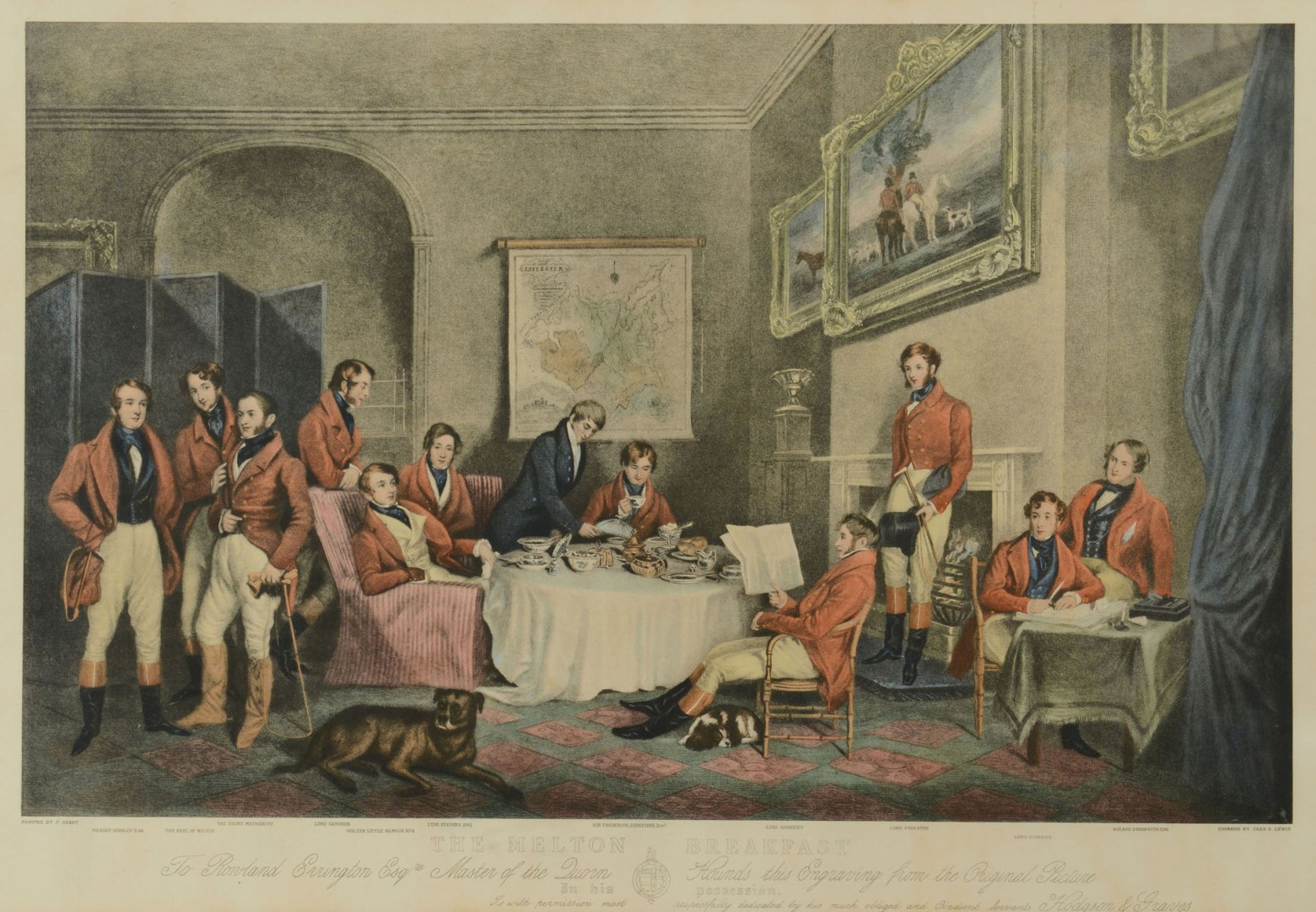 Lot 701: Pair of English Hunting Prints, 19th c.