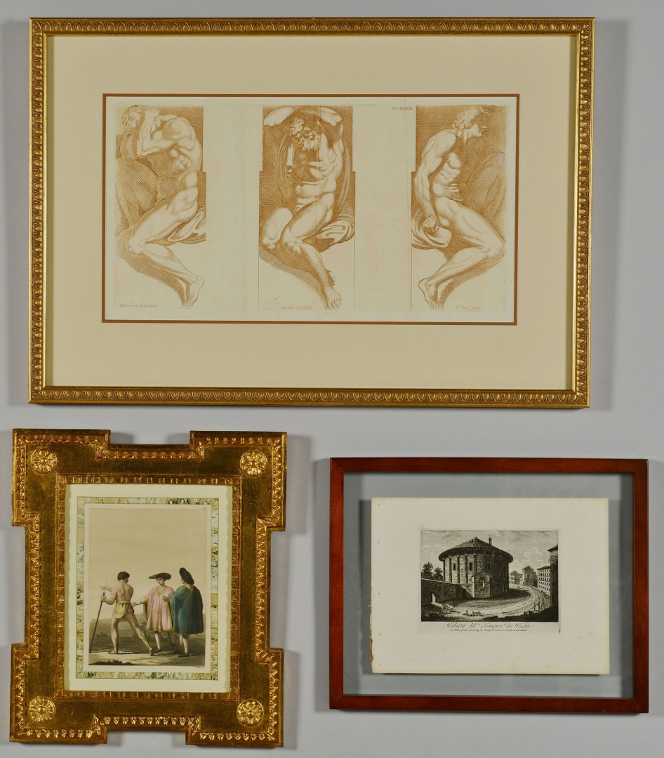 3 Framed Classical Subject Prints