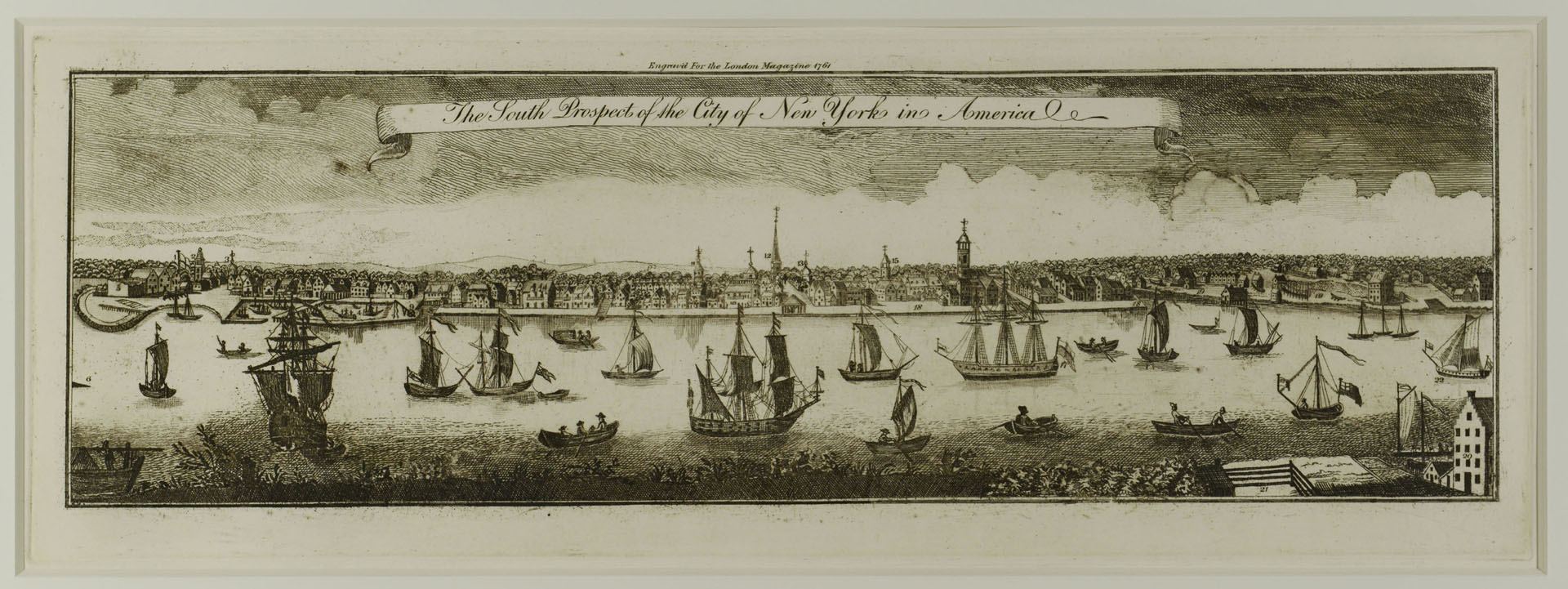 Engraving of the City of New York, after 1761