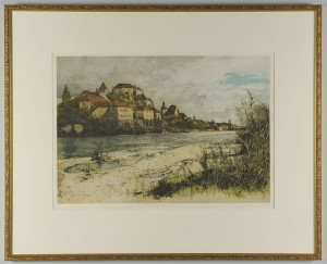 Lot 707: Luigi Kasimir Colored Etching