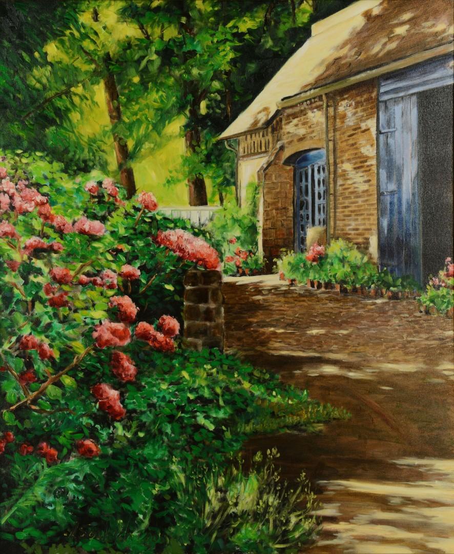 Anthony Soskich, o/c, Garden Scene
