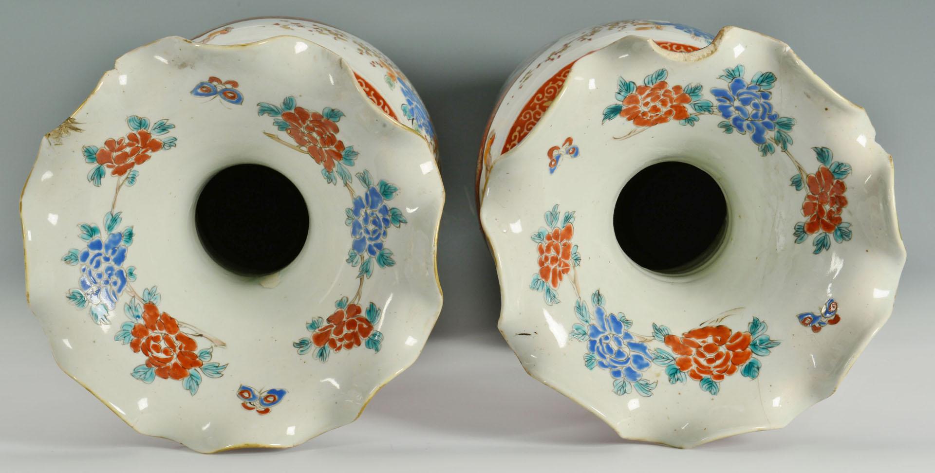 Lot 710: Pair Japanese Imari Porcelain Floor Vases