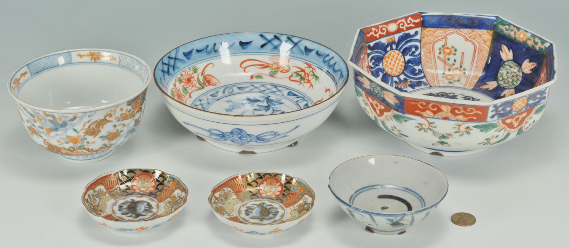 Lot 712: Group of 6 pcs Imari & Chinese porcelain