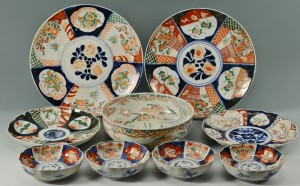 Lot 713: Grouping of Chinese and Japanese Imari, 9 pcs