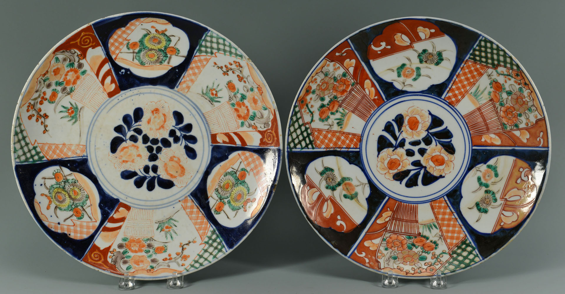 Grouping of Chinese and Japanese Imari, 9 pcs