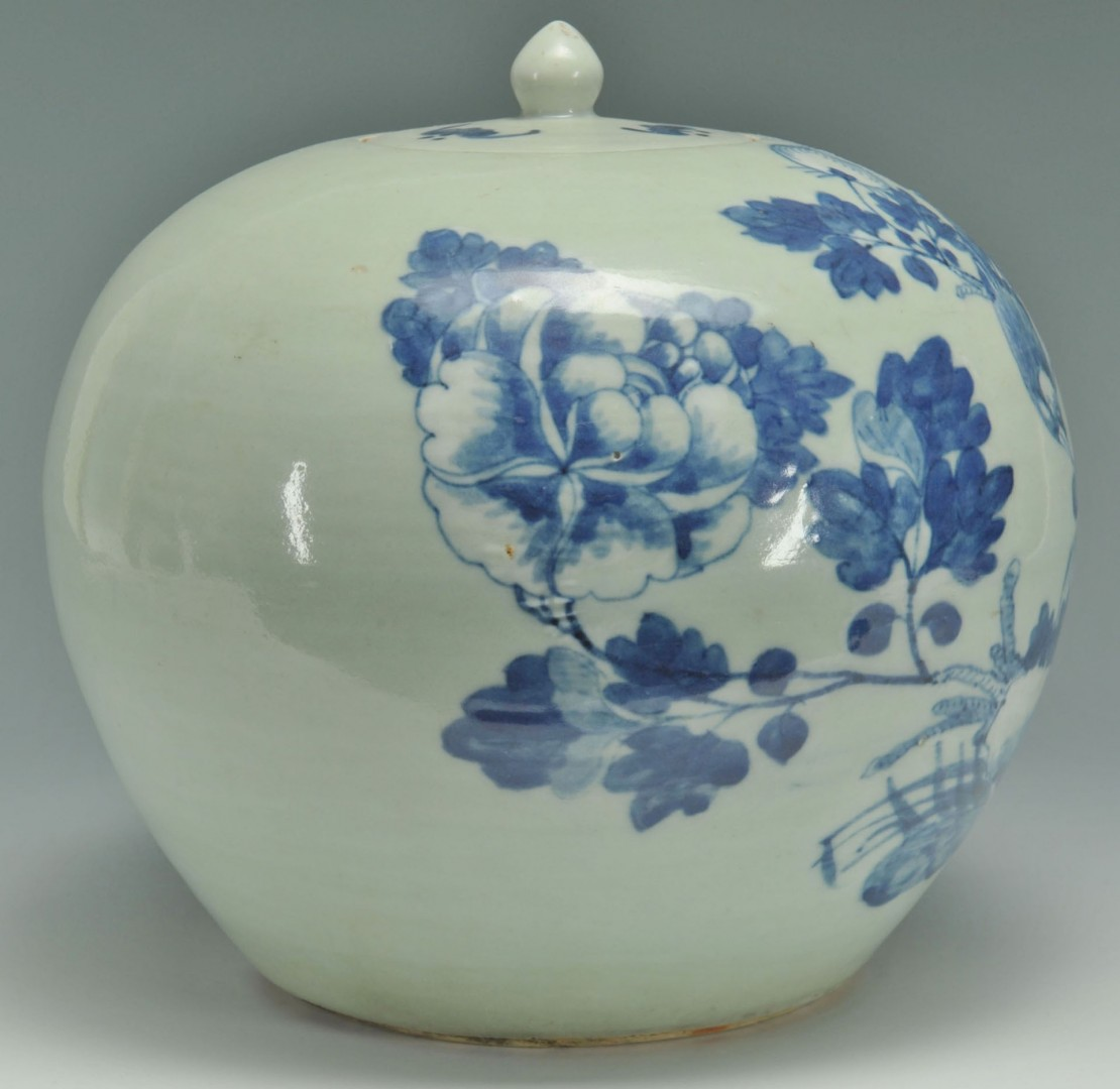 Lot 714: Chinese Blue And White Ginger Jar