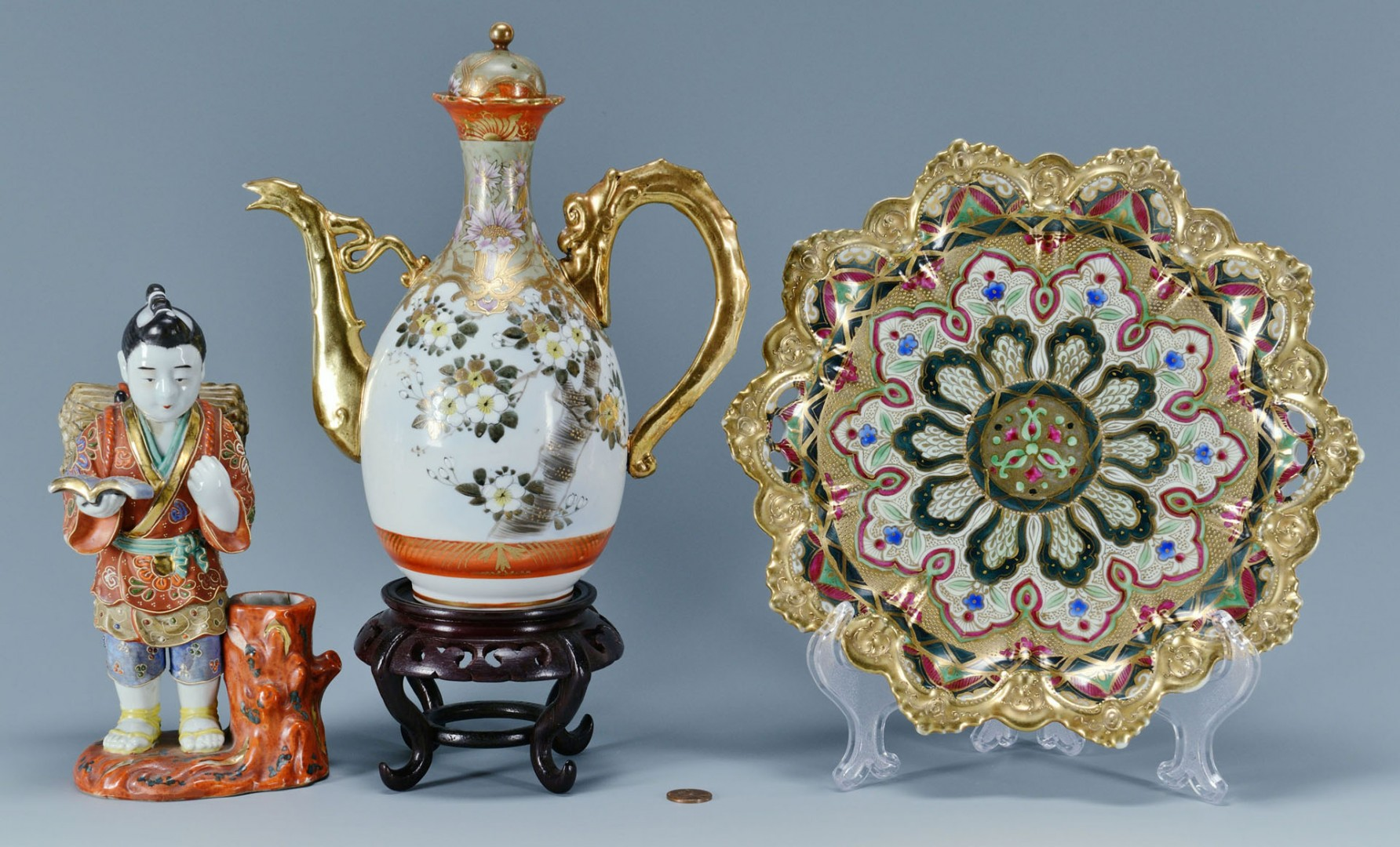 3 Japanese Porcelain Items