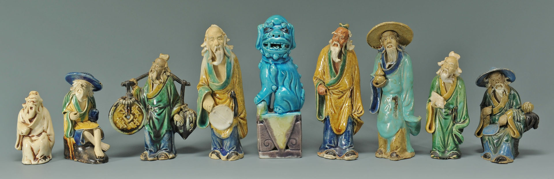15 Chinese ceramic/porcelain items inc. mud men
