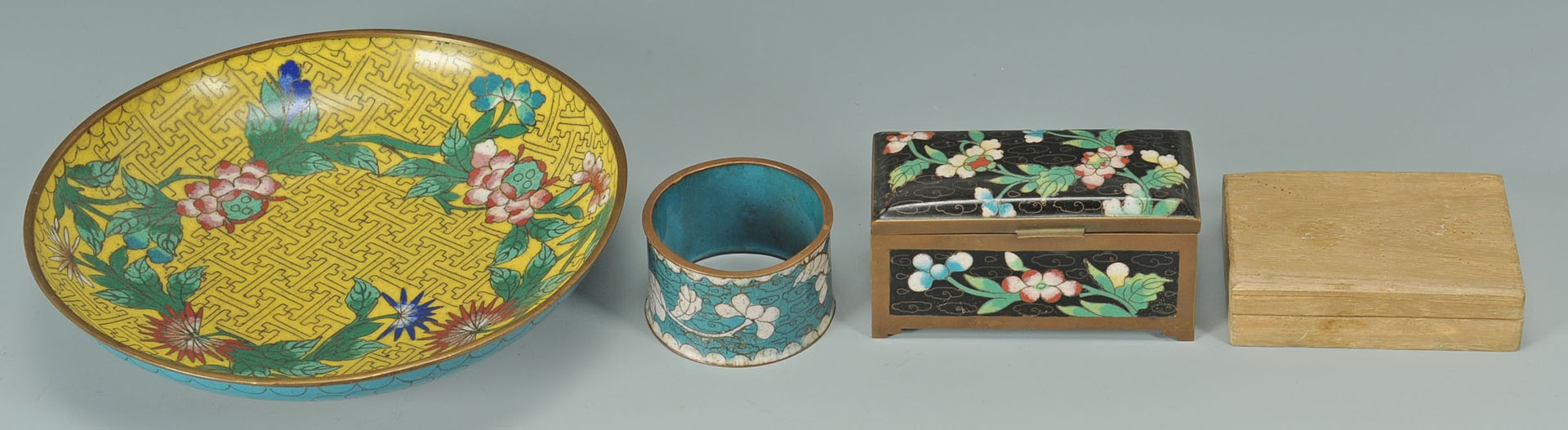 10 items Chinese Cloisonne inc. boxes