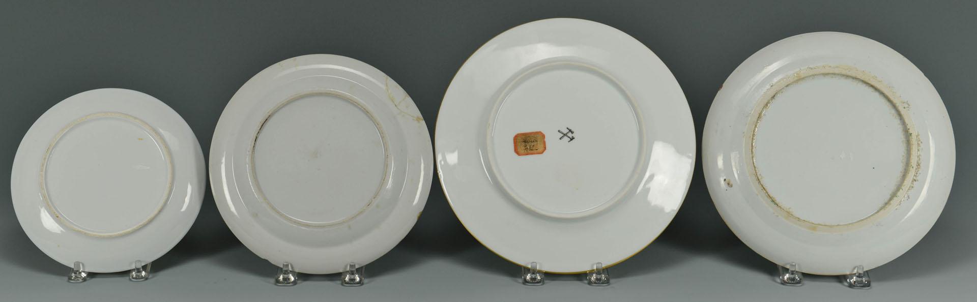 Lot 722: 4 Asian Themed Porcelain Plates