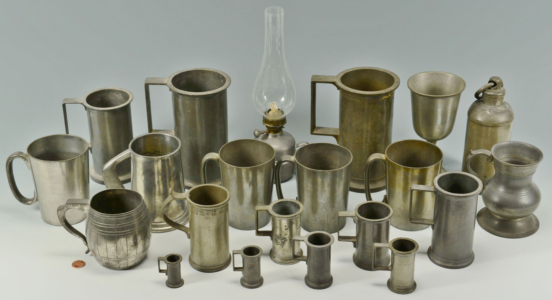 21 Pewter Items