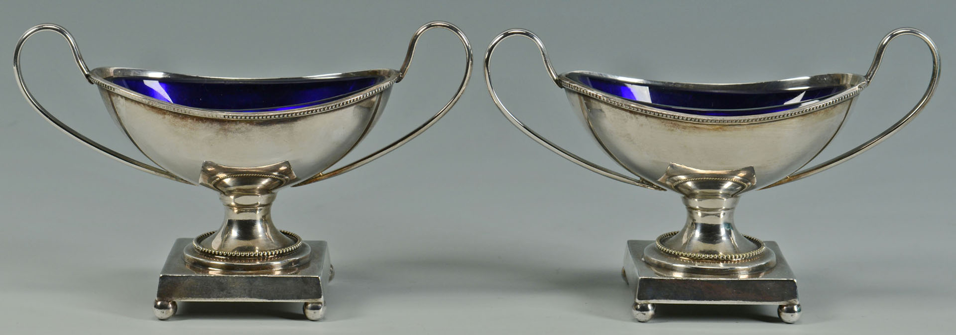 Lot 729: Sterling Flatware and plated salts, 10 pcs.