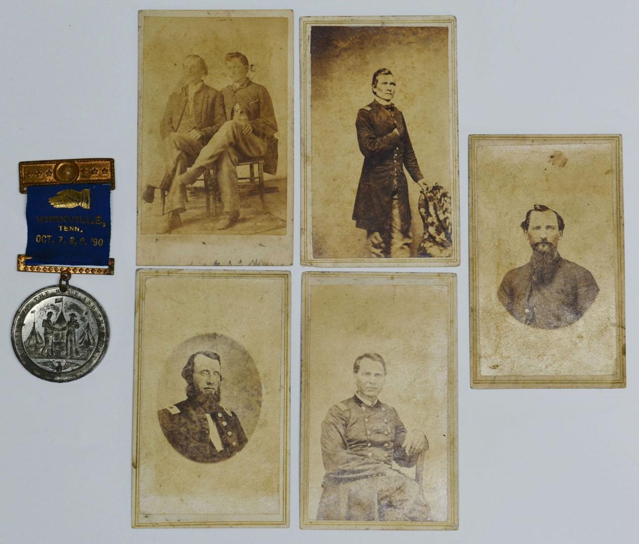 Lot 72: 5 TN Civil War Era CDV's and Fort Sanders Medal