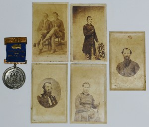 Lot 72: 5 TN Civil War Era CDV's and Fort Sanders Medal