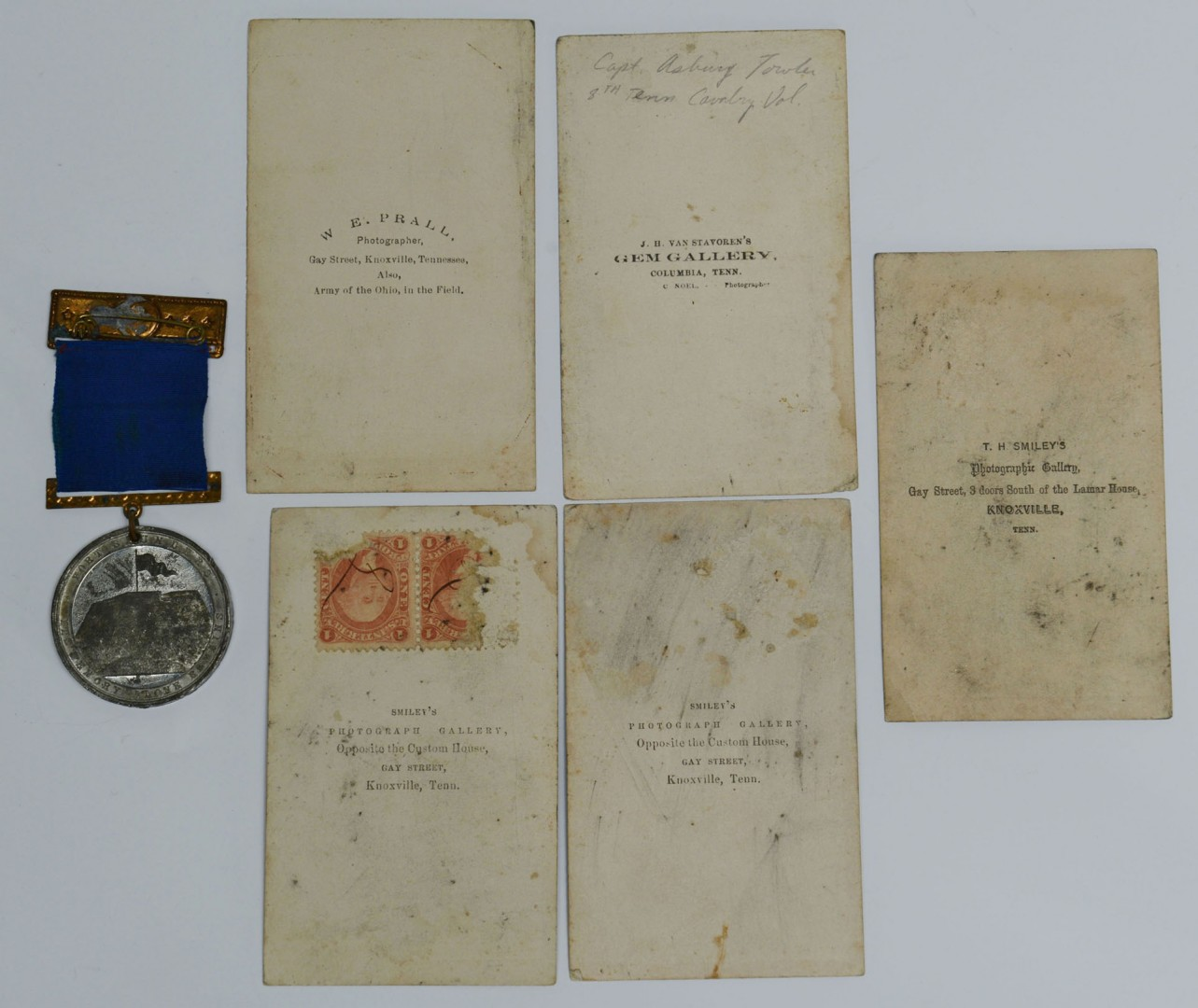 5 TN Civil War Era CDV's and Fort Sanders Medal