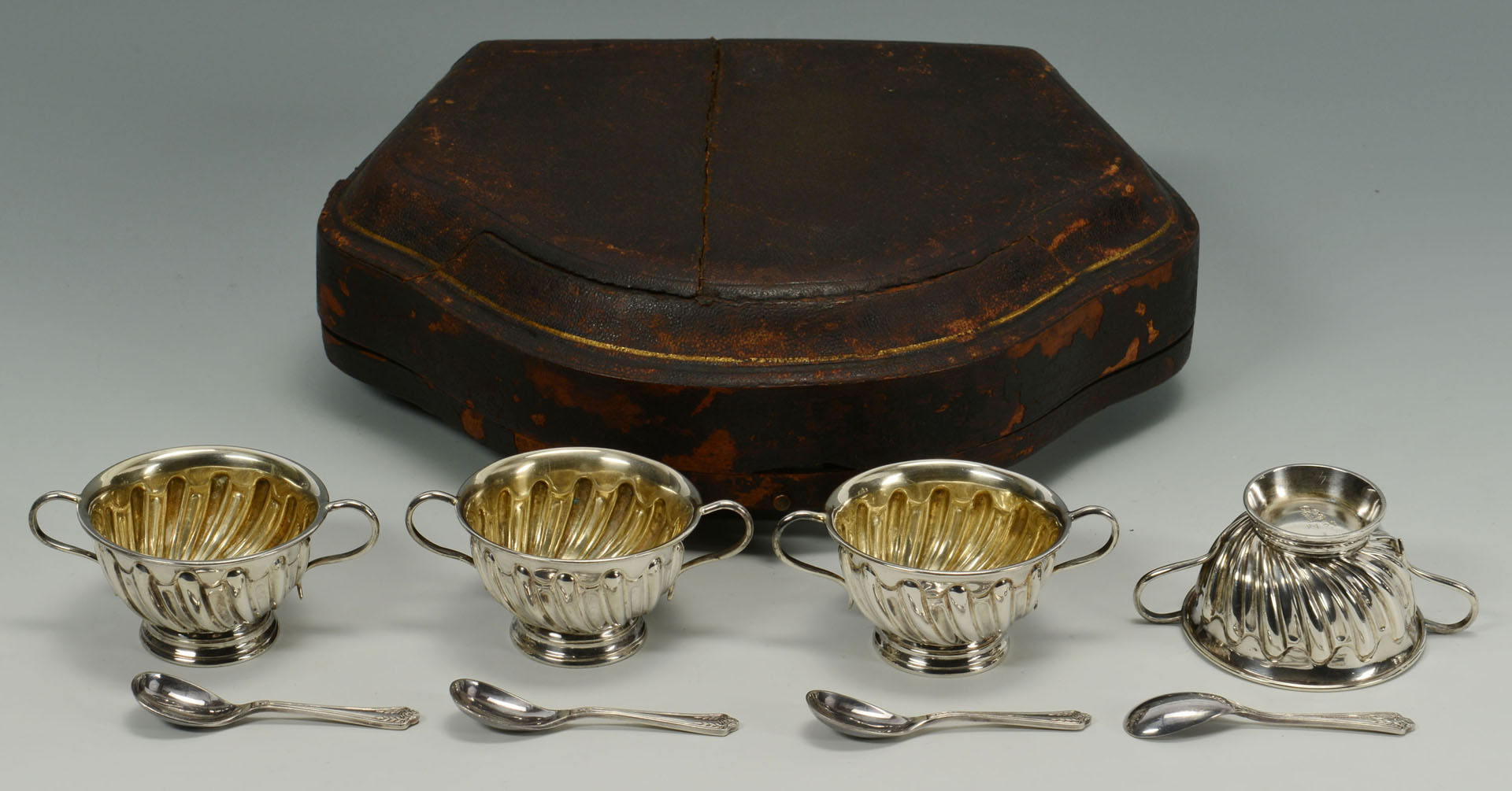 Five pieces Victorian Silverplated Hollowware