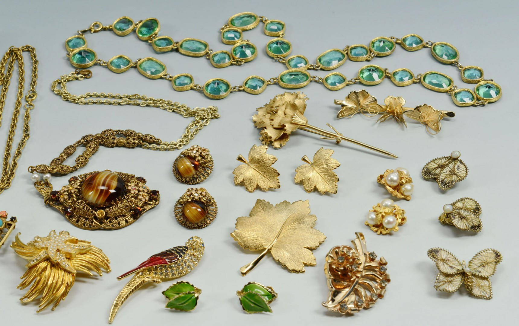 Group of Vintage Designer Costume Jewelry