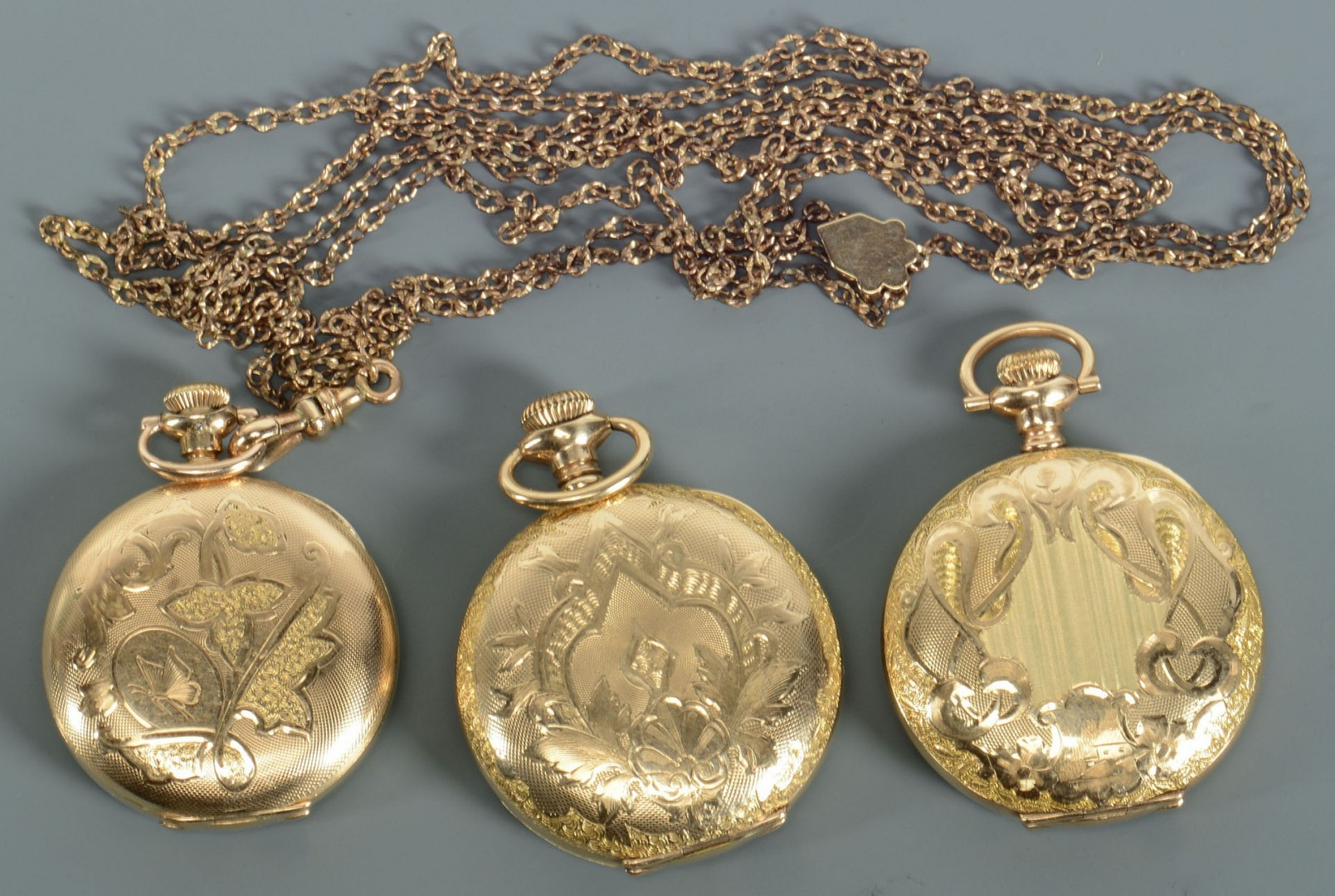Group of 7 pocket watches, inc 14K Omega