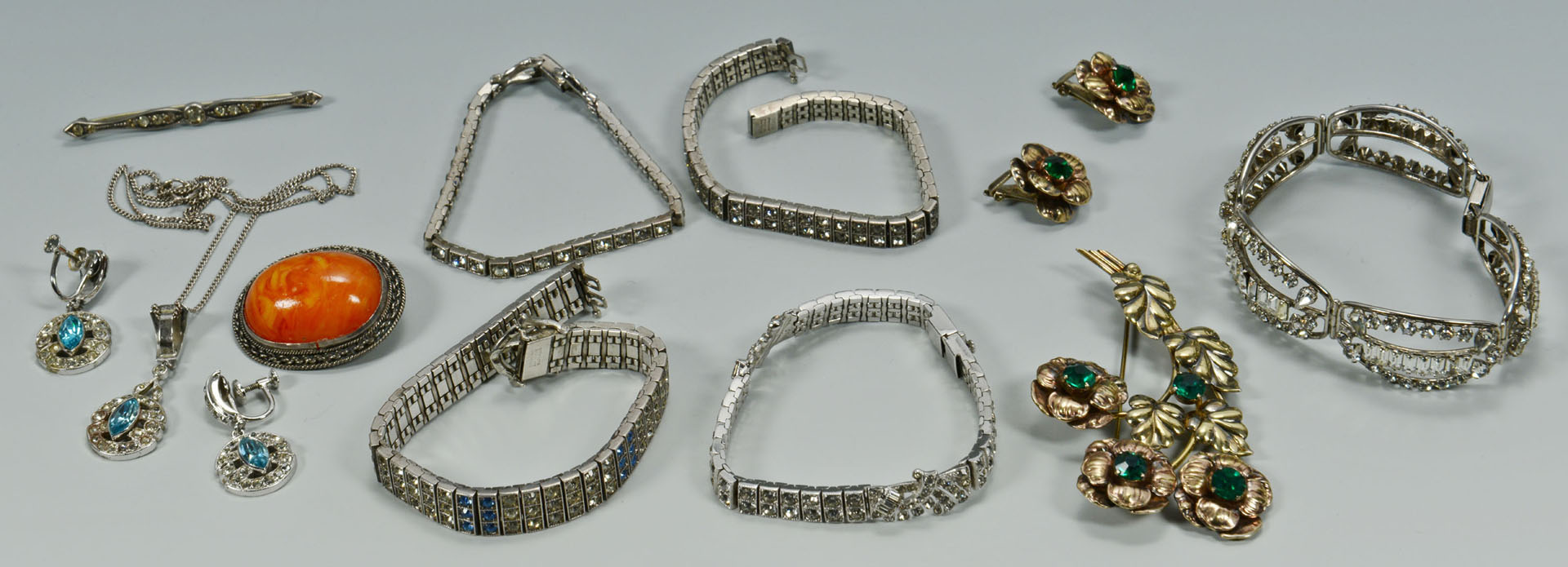 Lot 748: Vintage Sterling Jewelry with Stones