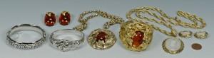 Lot 749: Whiting & Davis Costume Jewelry, 7 pcs