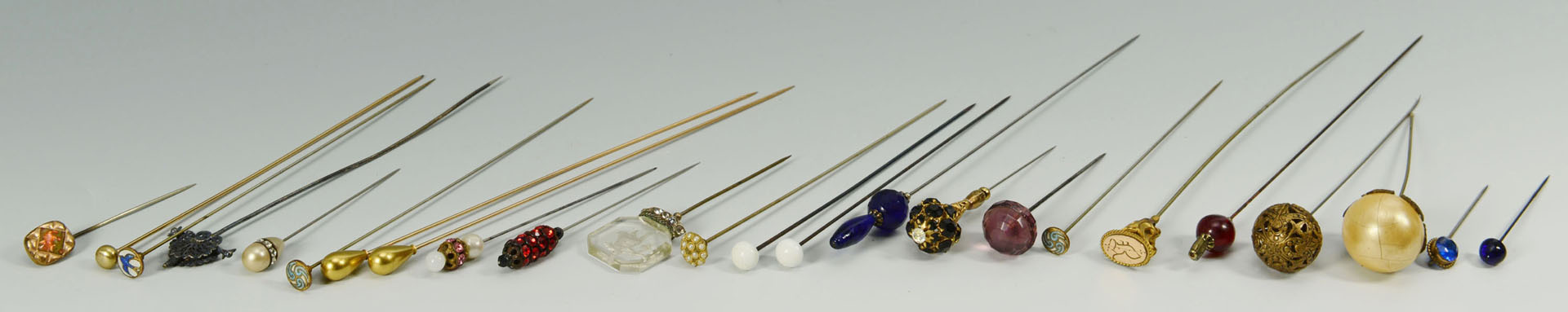 Hatpin and Hair Comb Collection, 33 pcs total
