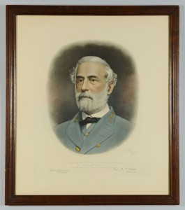 Lot 75: Robert E. Lee Memorial Engraved Portrait, 1870
