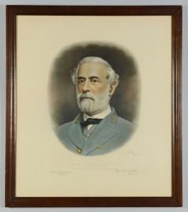 Lot 75: Robert E. Lee Memorial Engraved Portrait, 1870