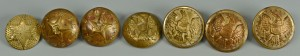 Lot 76: Mississippi Infantry Buttons and others
