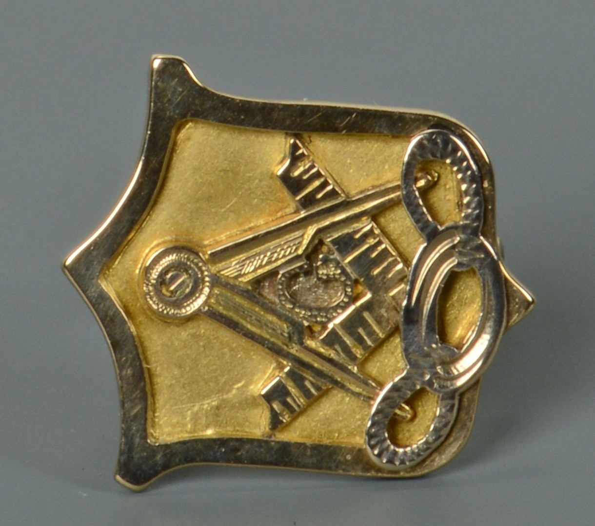 14k Masonic Pin, Donelson inscription