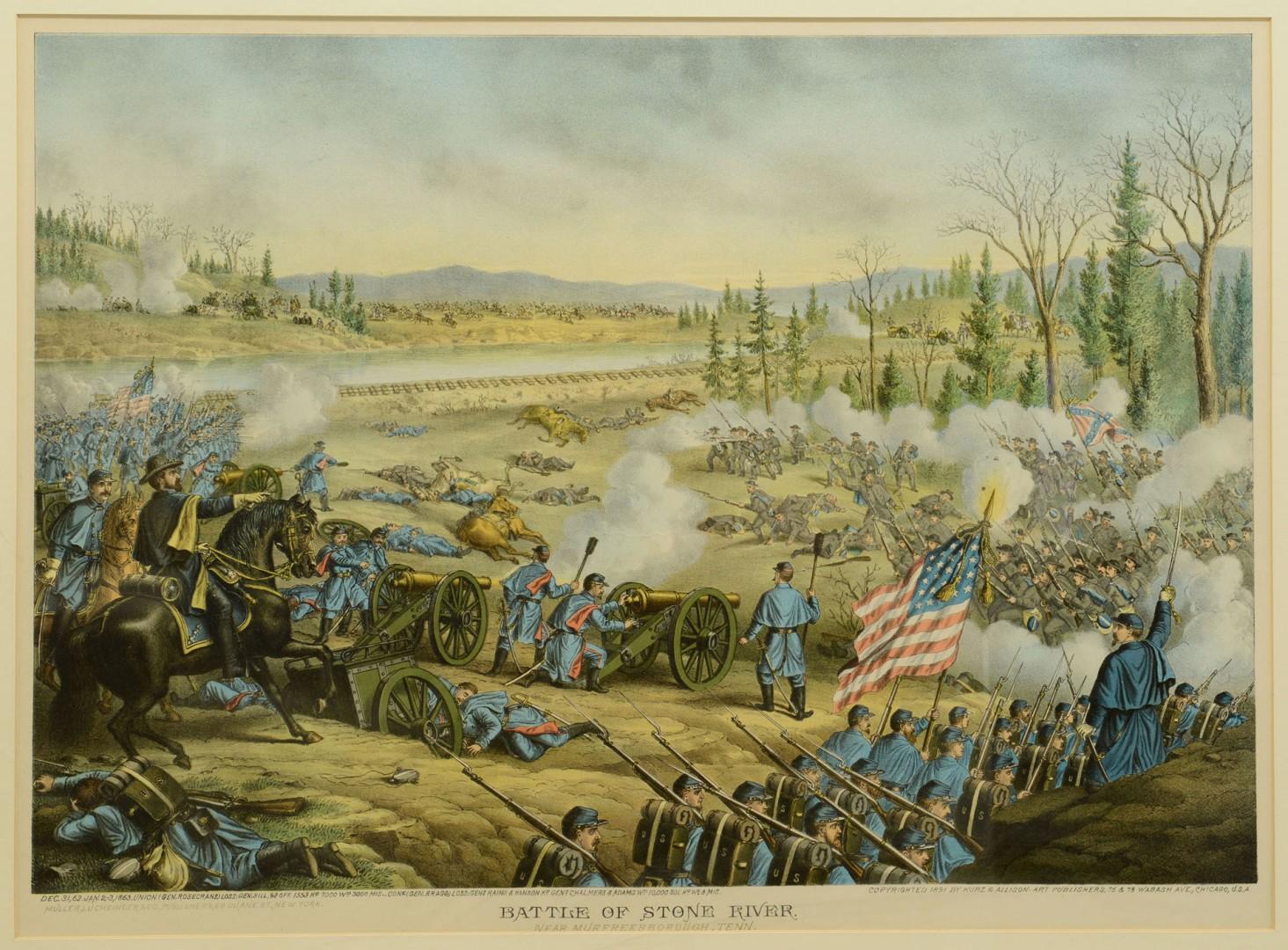 5 Kurz & Allison Civil War Battle Prints
