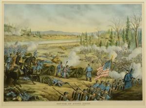 Lot 78: 5 Kurz & Allison Civil War Battle Prints - Image 2