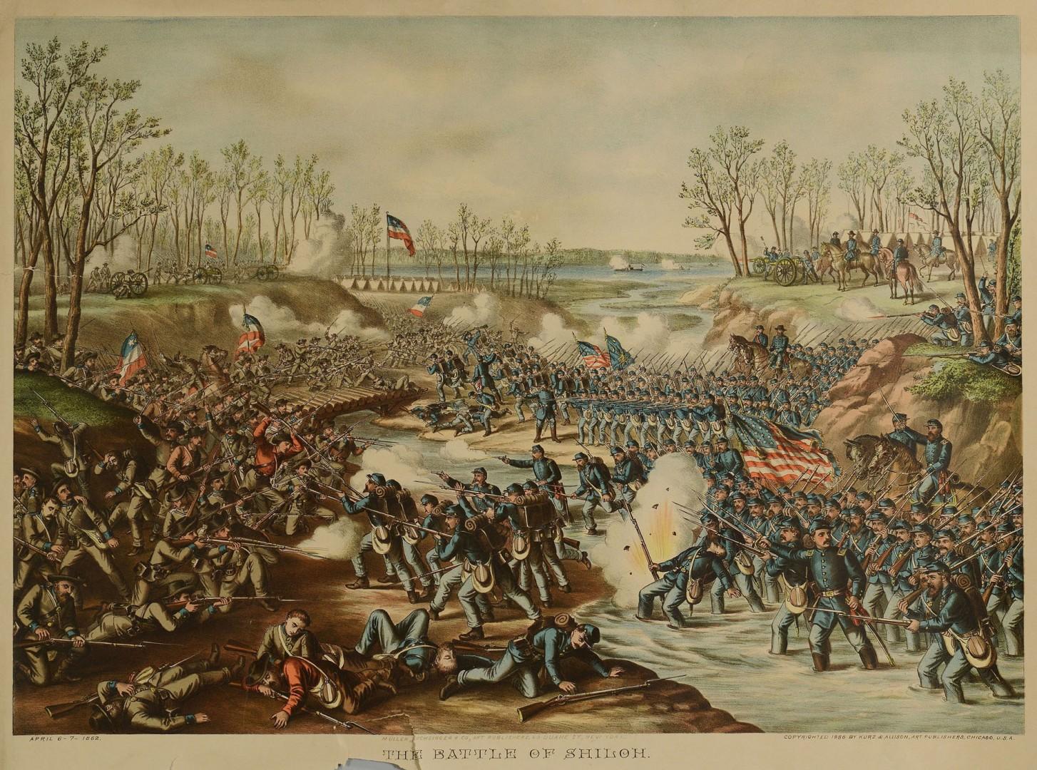 Lot 78: 5 Kurz & Allison Civil War Battle Prints