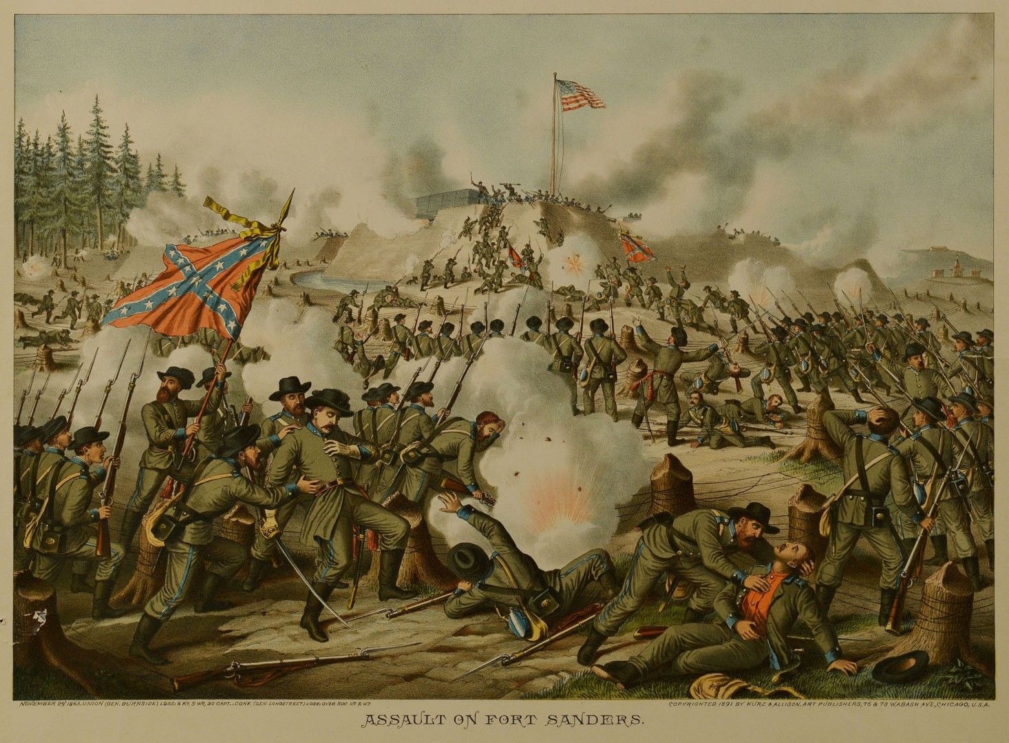 Lot 78: 5 Kurz & Allison Civil War Battle Prints