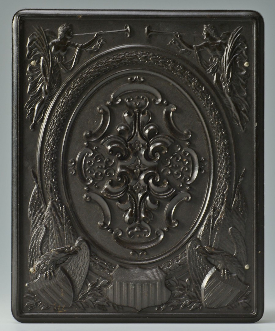 1862 Confederate Seal Medallion, Gilded Copper