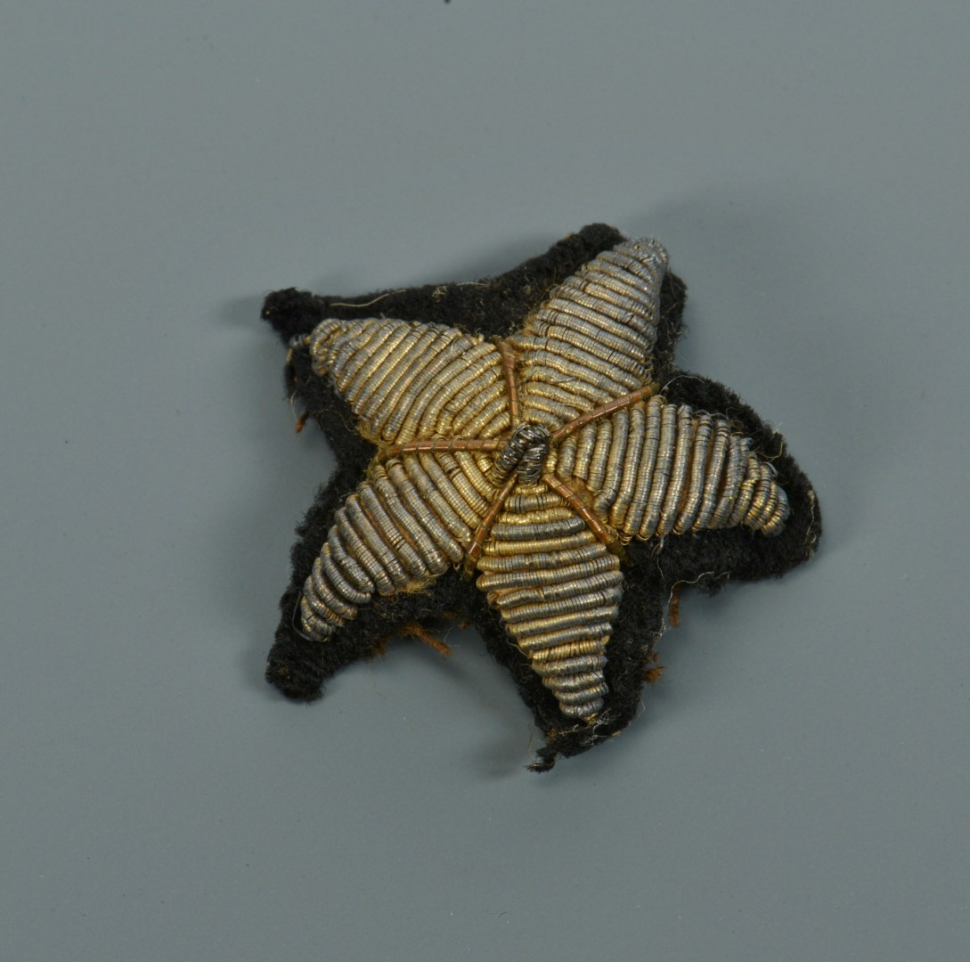 Lot 80: Confederate Surgeon's Uniform Star Insignia