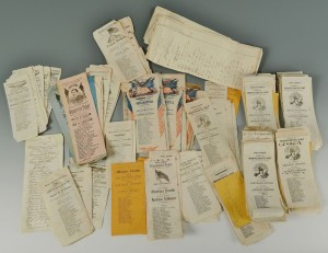 Lot 81: 1864 Presidential Election Ballots, total 270