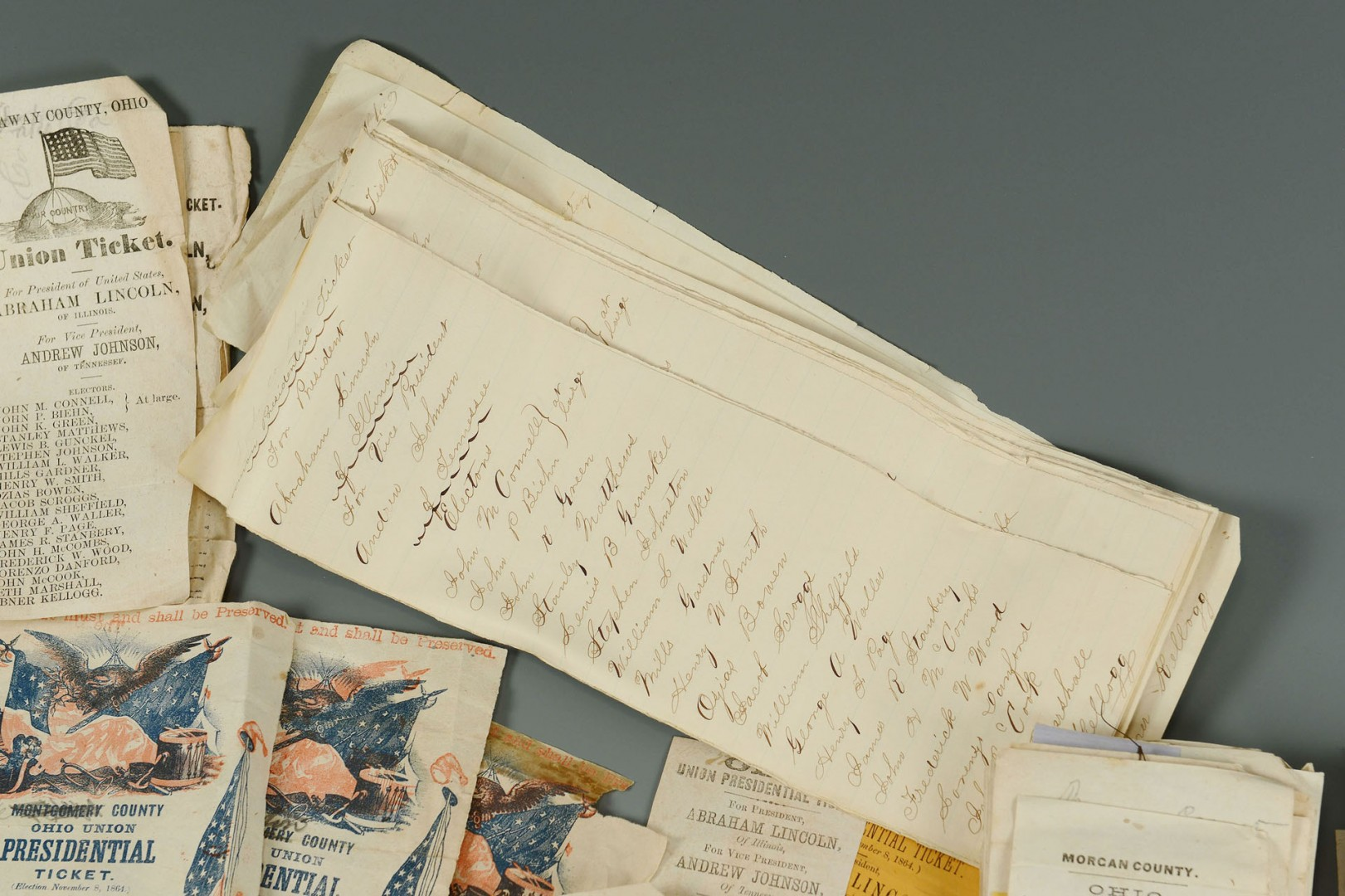 1864 Presidential Election Ballots, total 270