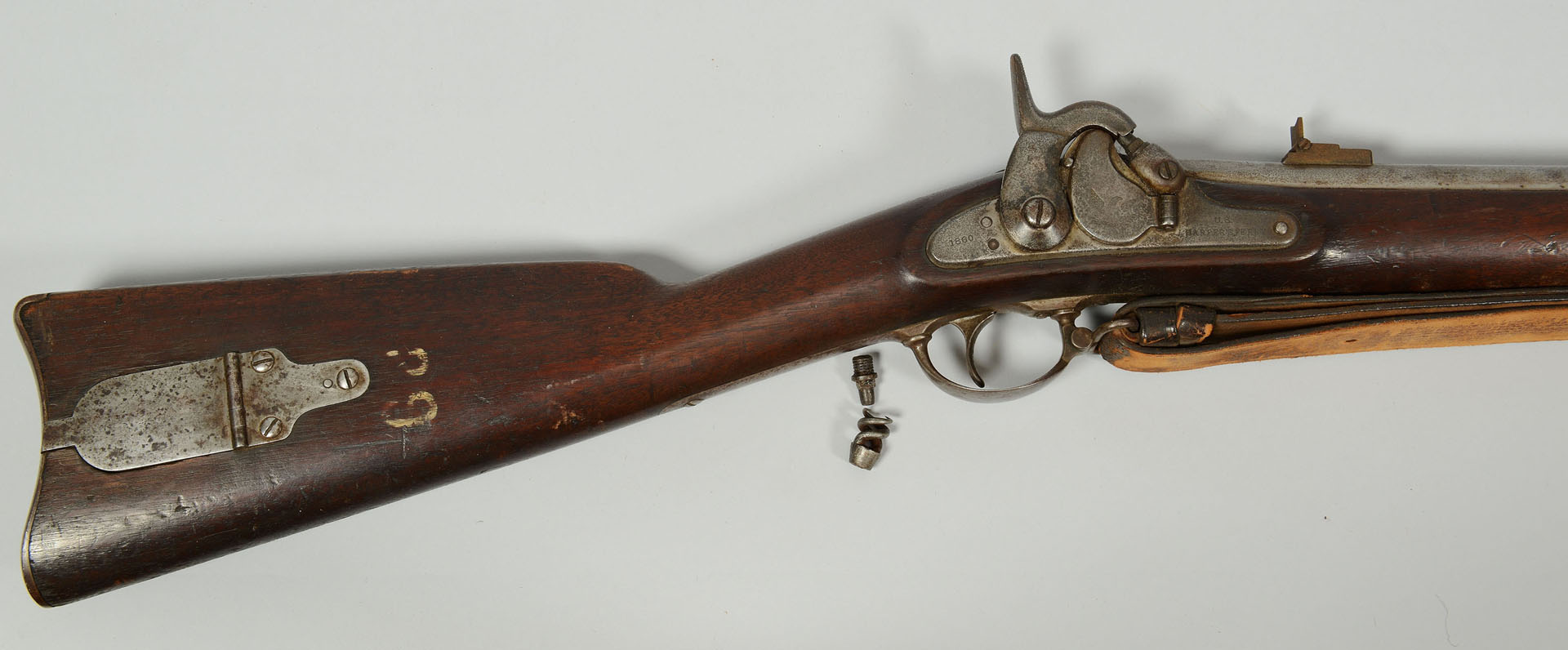 Lot 82: Harpers Ferry Model 1855 w/ Maynard primer