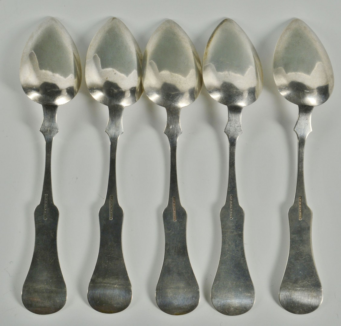 Lot 90: Five Kinsey Coin Silver Spoons, KY & OH