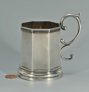 Lot 91: Lexington KY Coin Silver Cup w/ handle