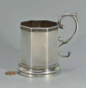 Lot 91: Lexington KY Coin Silver Cup w/ handle