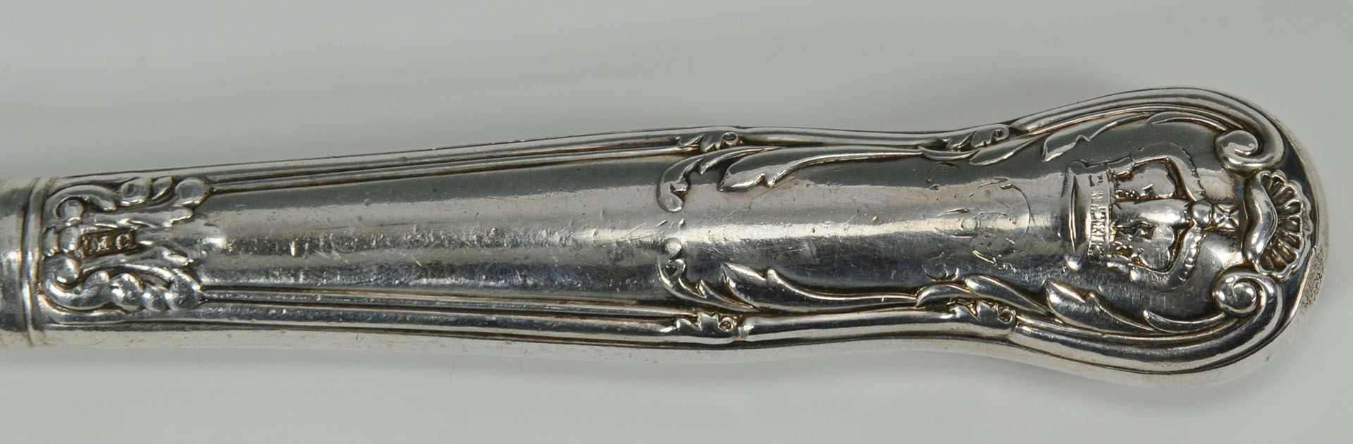 12 sterling knives by Mary Chawner for Queen Adela