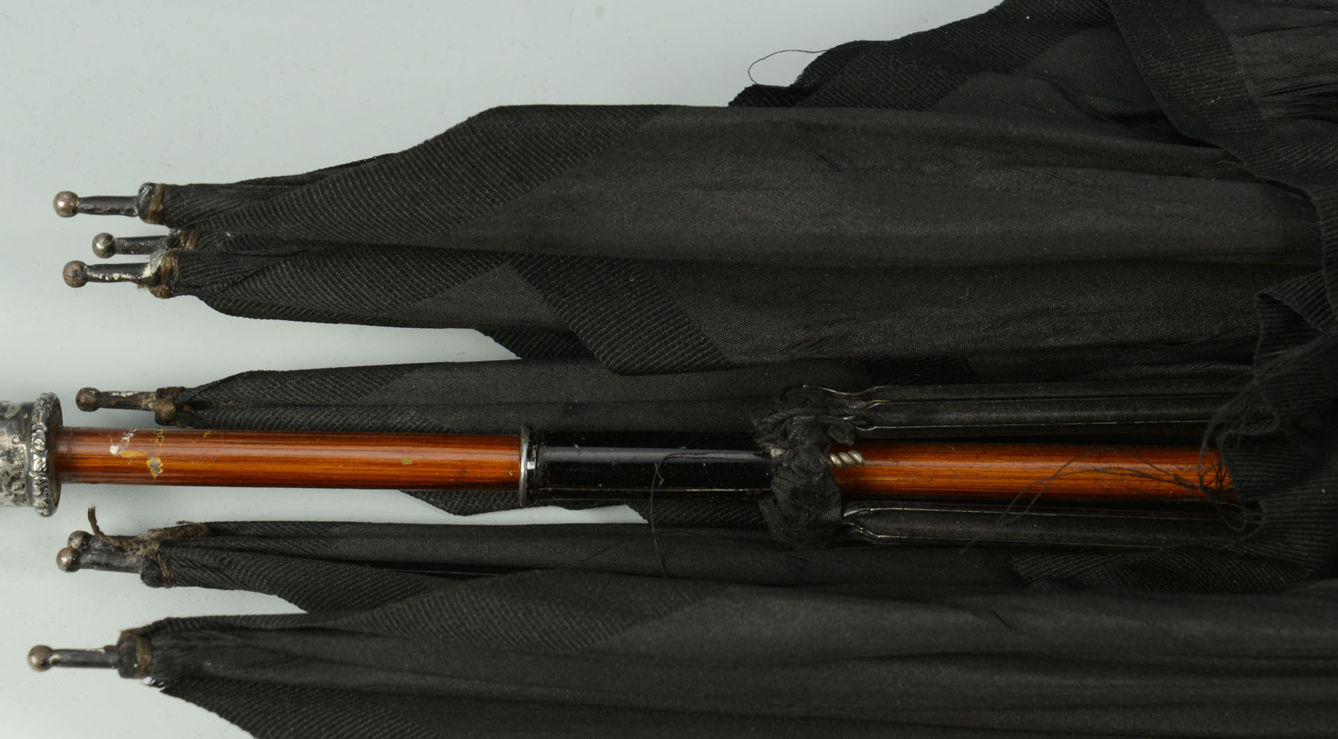 Lot 99: Sterling & Mixed Metal Umbrella w/applied insects