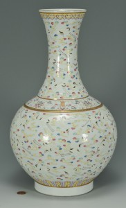 Lot 9: Chinese Porcelain Bottle Vase w/ Crane Decoration